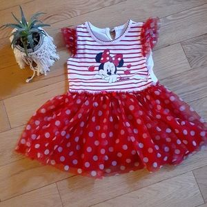 Red and white Disney Minnie Dress 24 months